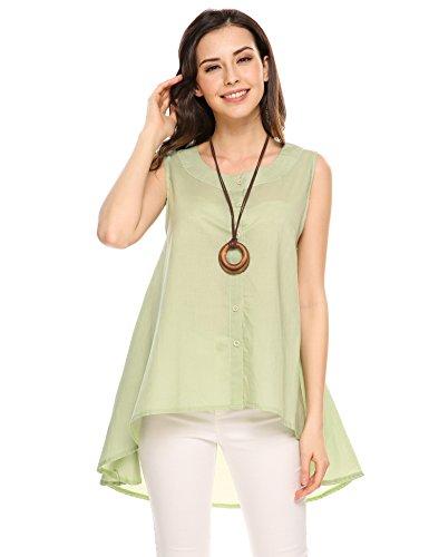 Zeagoo Womens Buttons Sleeveless Hemline product image