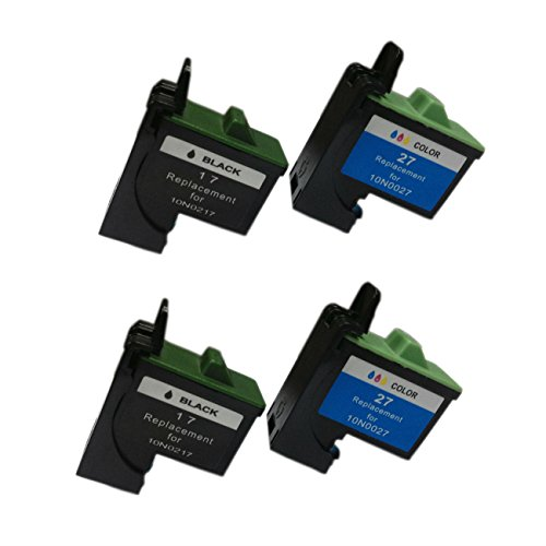nufactured Ink Cartridge for Lexmark 17/27 (10N0217/10N0227)(pack of 2 Black+Tri-Color) (10n0227 Ink)