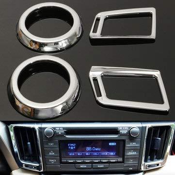 4PCS for Toyota 2013-2019 RAV4 Chorme Dashboard Air Vent Cover Garnish - Car Repair & Maintenance Car Modifications - 1 Set X Air Vent Cover Trim -