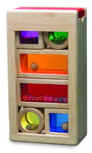 Wonderworld Rainbow Sound Blocks - Stackable Hollow Shape Block Toys - 7 Piece Set