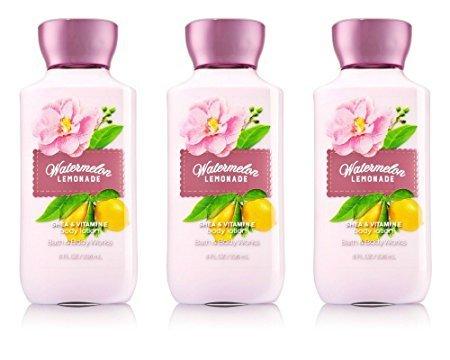 Lemonade Body - Bath & Body Works Shea & Vitamin E Lotion Watermelon Lemonade (3 Pack)