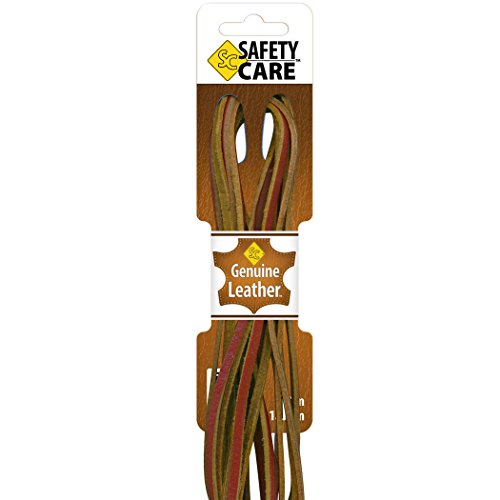 SafetyCare Heavy Duty Leather Boot & Shoe Laces -Great for Welding & Work Boots, Boat Shoes, Baseball Gloves, Arts & Crafts - 72 inch - Rust
