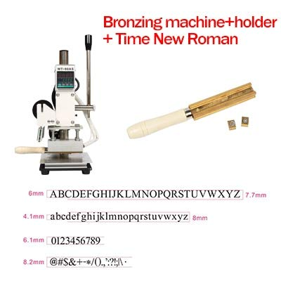 Tool Parts WDN Hot Foil Stamping Embossing Machine Manual Bronzing Machine for Wood Leather PVC Card Paper Heating Stamper Tool - (Color: machine with TNR, Specification: 220V AU Plug) ()