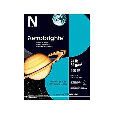 "Astrobrights Color Paper, 8.5"" x 11"", 24 lb/89 gsm, Terrestrial Teal, 500 Sheets (21048)"