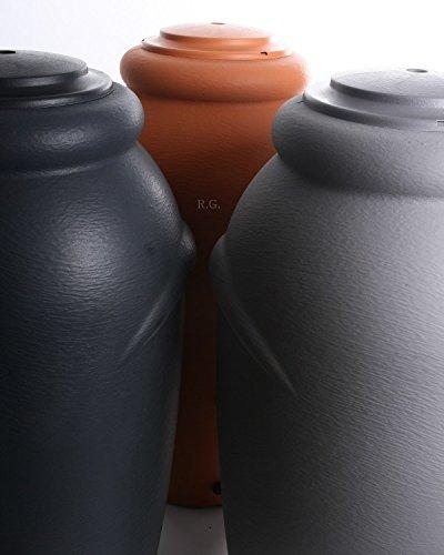Anthrazit Regenwassertonne Regentonne Regenbeh/älter Regentank Amphore 210L 3 Farben Wasserhahn w/ählbar