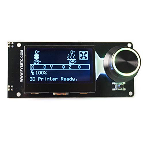 (LCD Controller 12864 Smart Panel Parts Electronics with Card Slot Professional 3D Printer Accessories Display LED Backlight Replacement Full Graphic(E) )