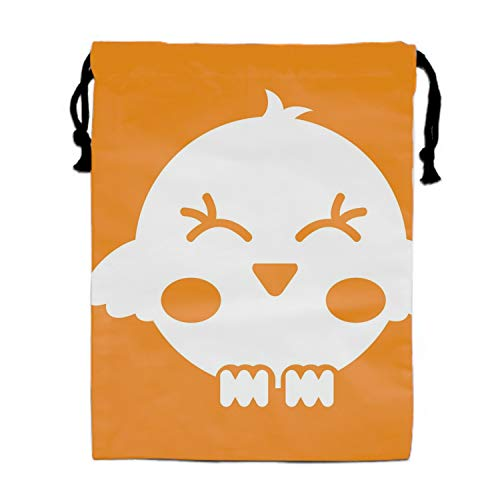 Cute Bird Silhouette Isolated Icon Drawstring Bags Party Favors Bags(1 Pack), Personalised Birthday Fabric Party Goodie Bag Gift for Kids Boys & Girls ()