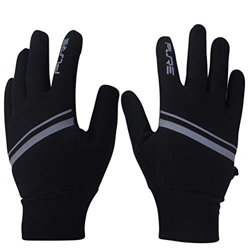 Lightweight Running Gloves for Men, Women - Touch Screen, Cold Weather Winter ... (M, Black)