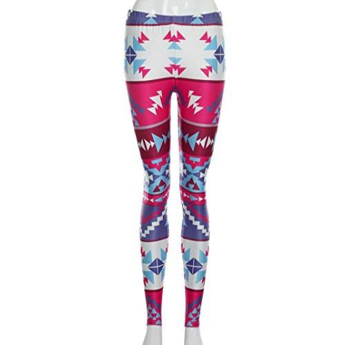 Pantaloni da fitness donna Vovotrade Pantalone Leggins Leggings Leggings Eleganza Leggings Stampa Leggings Yoga (L, Rosa caldo)