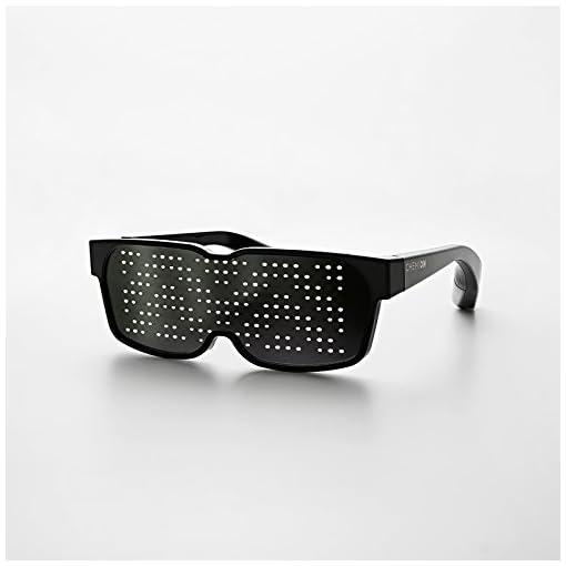 CHEMION – Occhiali LED Bluetooth Unici! ? Messaggi sul display, Animazione, Disegni!