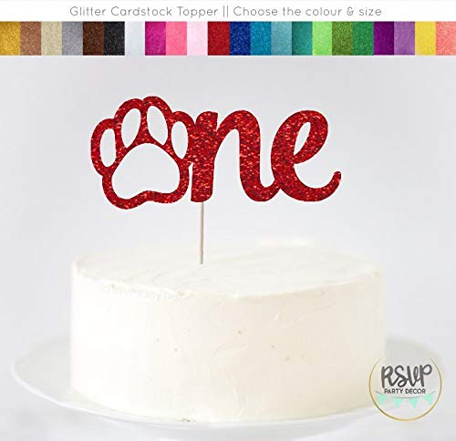 Decoración para tarta con diseño de huella de perro, para ...