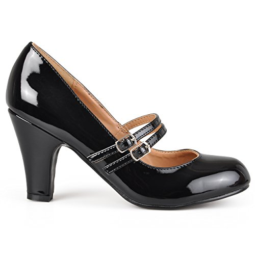 aclyn WD Dress Pump, Black Patent PU Wide Width, 8 W US ()