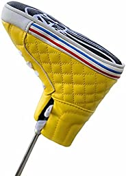 Perilynnc Golf Putter Cover Blade Putter Cover Headcover PU Leather Canvas Shoe Design Golf Club Protector Bom