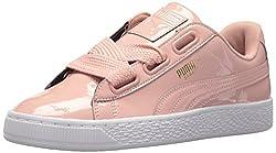 Puma Women's Basket Heart Patent Wn Sneaker, Peach Beige-peach Beige, 6.5 M Us