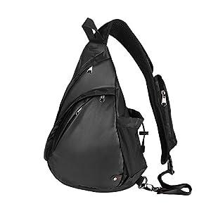 OutdoorMaster Sling Bag - Crossbody Backpack for Women & Men (Camo-Black)