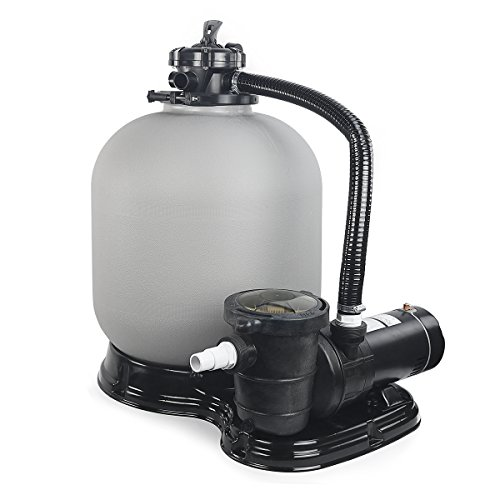 4500GPH 19'' Sand Filter w/ 1HP Above Ground Swimming Pool Pump by XtremepowerUS