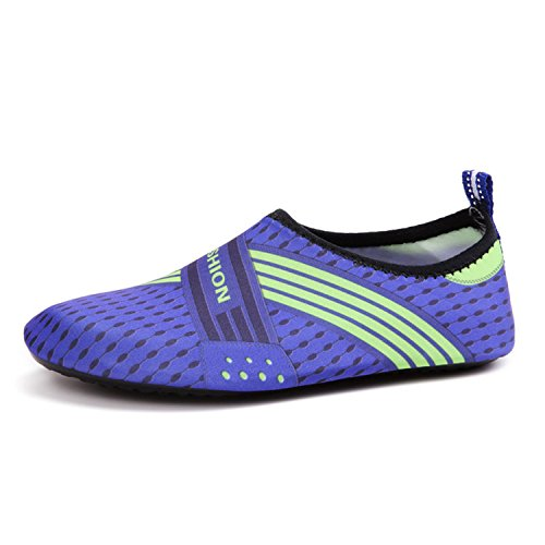 Shoes Shoes Diving Swimming AiWoo Outdoor Bright Non Lightweight Skin Shoes Shoes Blue Slip Safety Drifting Sword Wading Snorkeling Beach SqXPXwtz