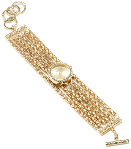 XOXO Women's XO5574 Gold-tone Multi Chains Bracelet Watch