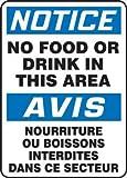NOTICE NO FOOD OR DRINK IN THIS AREA