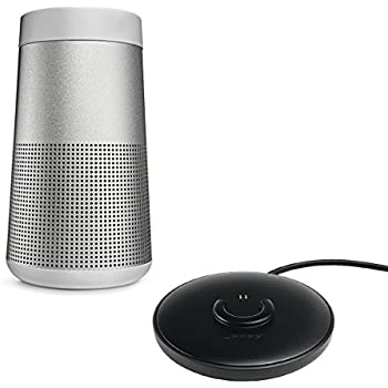 Bose SoundLink Revolve Bluetooth Speaker, Single, Lux Gray - with Bose Charging Cradle for SoundLink Revolve Bluetooth Speakers