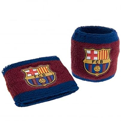 F C Barcelona Wristbands BB- wristbands sweatbands- set two- elasticated one size fits all- 7cm wide- header card- official licensed product Estimated Price £6.00 -