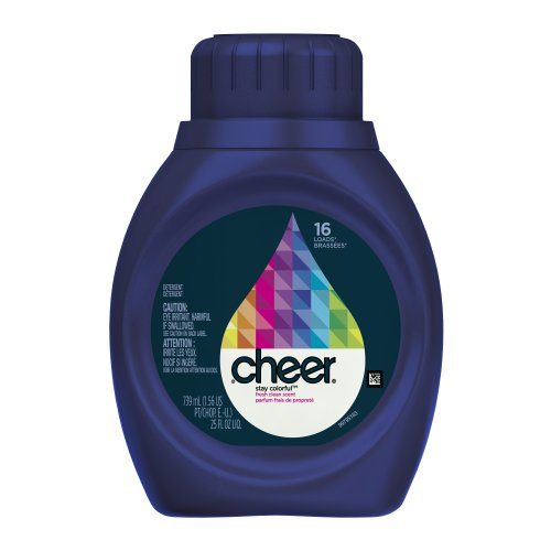 Cheer 2x Ultra Liquid Fresh Clean Scent, 16 Loads, 25-Ounce(Packaging May Vary)