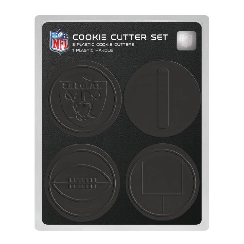 NFL Oakland Raiders Officially Licensed Set of Cookie Cutters