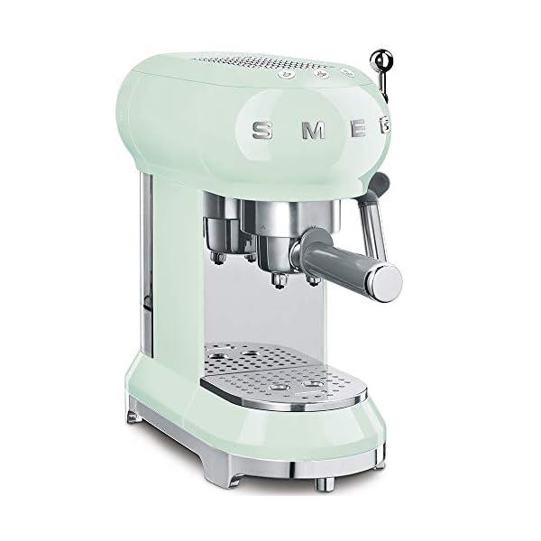 Smeg ECF01PGUS Espresso Machine, Pastel Green 1