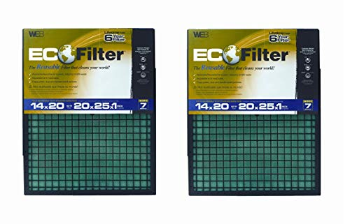WEB Eco Filter Adjustable, 6 Year (Pack of 2) by WEB