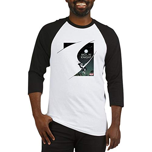 CafePress Moon Knight Cape Baseball Jersey Cotton Baseball Jersey, 3/4 Raglan Sleeve Shirt Black/White