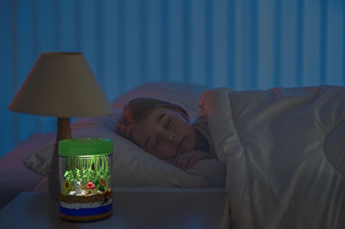 Light-up Terrarium Kit for Kids with LED Light on Lid | Create Your Own Customized Mini Garden in a Jar That Glows at Night | Great Science Kits Gifts for Children | Kids Toys