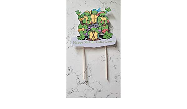 Amazon.com: Teenage mutant ninja turtles cake topper ...