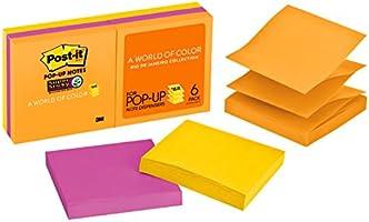 Post-it R330-6SSUC Super Sticky Pop-Up Notes Rio De Janeiro, 76x76mm 6 Pack