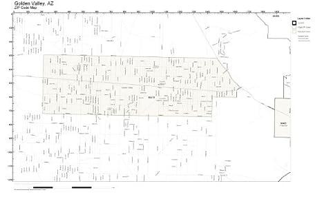 Amazon Com Zip Code Wall Map Of Golden Valley Az Zip Code Map Not
