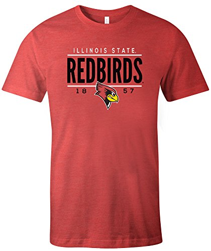 (NCAA Illinois State Redbirds Tradition Short Sleeve Tri-Blend T-Shirt, Red,XX-Large)