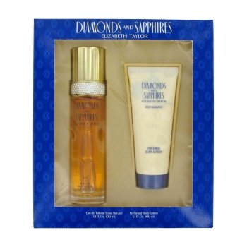 DIAMONDS & SAPHIRES by Elizabeth Taylor Gift Set -- 3.3 oz Eau De Toilette Spray + 3.3 oz Body Lotion for Women