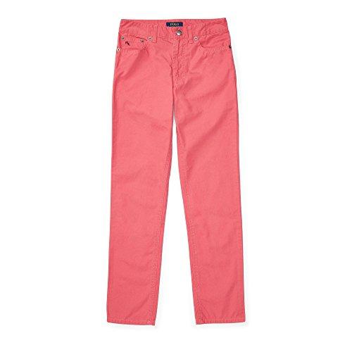 (Polo Ralph Lauren Boys' Varick Cotton Skinny Pants (16, Red Coral))