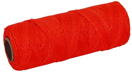 MARSHALLTOWN The Premier Line ML607 Mason's Line 250-Foot Fluorescent Orange Braided Nylon