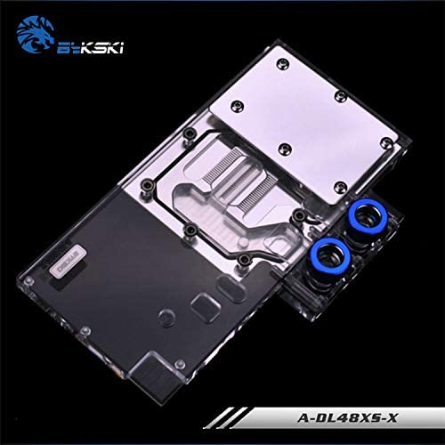 Bykski A-DL48XS-X GPU Water Cooling Block for PowerColor RX480 Red Devil