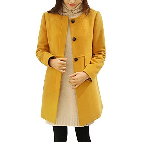 Sannysis Long Coats for Women, Women's Fashion Jacket Long Section Large Size Loose Round Neck Coat -