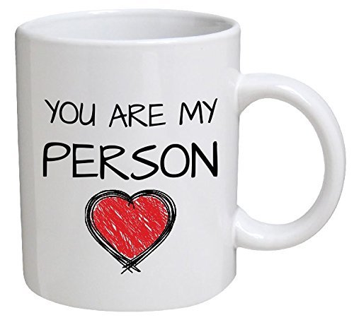 Funny Mug - You are My Person. Red Heart. Boyfriend, Girlfriend - 11 OZ Coffee Mugs - Funny Inspirational and -