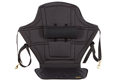Skwoosh High Back Kayak Seat with adjustable lumbar support and waterproof nylon seat | Made in USA by Skwoosh