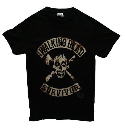 The Walking Dead Survivor Crossed Logo Officially Licensed AMC Adult T-shirt