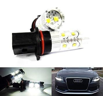 2 bombillas LED Cree P13W PSX26W de color blanco para luz diurna DRL antiniebla para A4 B8 Q5 i40 Sportage CX-5 Leaf 508 Yeti: Amazon.es: Coche y moto