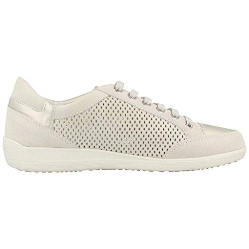 Geox D Myria B - Zapatillas para mujer Blanco