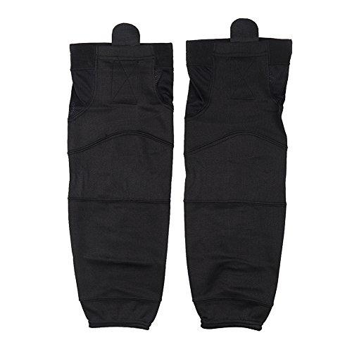 Men Ice Hockey Socks Black, COLDINDOOR Unisex Adult Ice Hockey Socks Cool Dry Fit Senior Size Black S