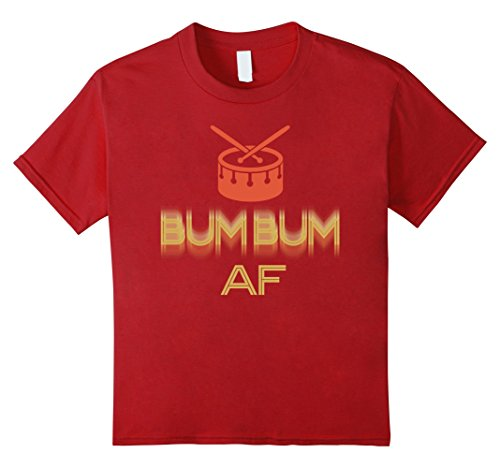 Christmas Drummer Boy Costumes - Kids Bum Bum AF. Funny Gifts For All Drummers In Birthday 6 Cranberry