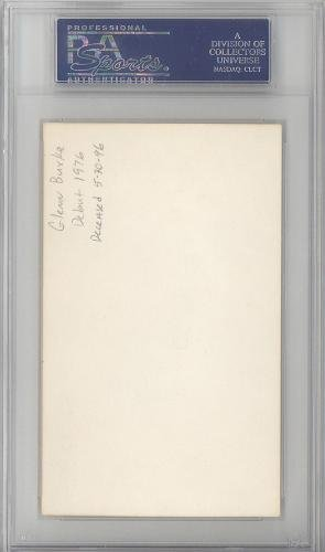 Glenn Burke Autographed Signed 3x5 Index Card Dodgers, A's #83786451 PSA/DNA Certified MLB Cut Signatures