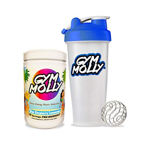 (Gym Molly - Blue Raspberry Lemonade & Classic Blender Bottle (28)