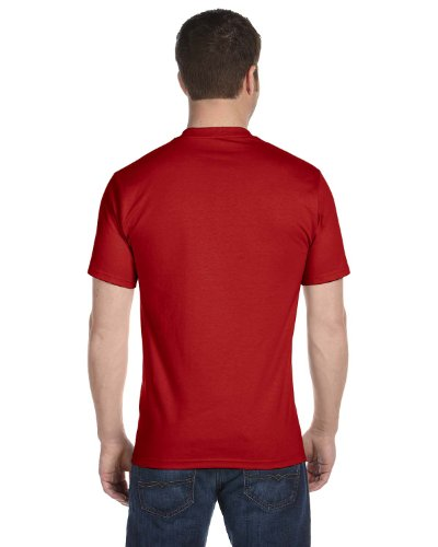 Hanes Men's Tagless ComfortSoft Crewneck T 4P - Red -